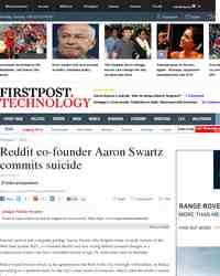 Internet activist creator of RSS Aaron Swartz commits: Firstpost